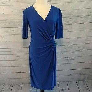 Lauren Ralph Lauren Island blue dress size 8 NWT